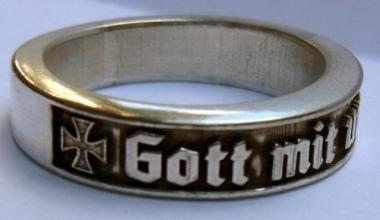 Deutscher Ring Gott mit uns EK