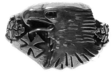 Deutscher Adler mit EK und Eichenlaub Standard 21 mm