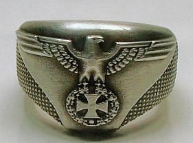 Schöner Ring Reichsadler mit EK Standard 21 mm