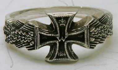 Ring EK 1914 mit Eichenlaub Standard 21 mm